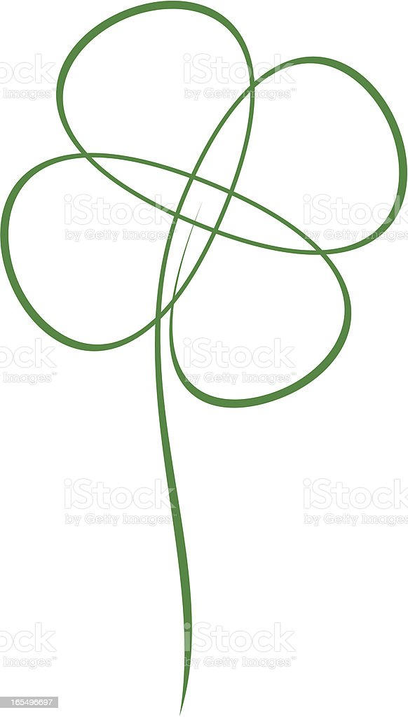 Seamless four-leaf clover royalty-free stock vector art