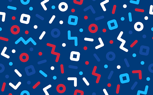 Seamless Fourth of July Independence Day Confetti Pattern Background