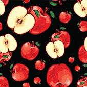 istock Seamless Fruit Pattern - Apple 476094280