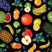 istock Seamless Fruit Pattern 476365340