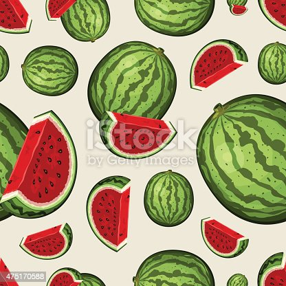 Seamless Fruit Pattern - Watermelons