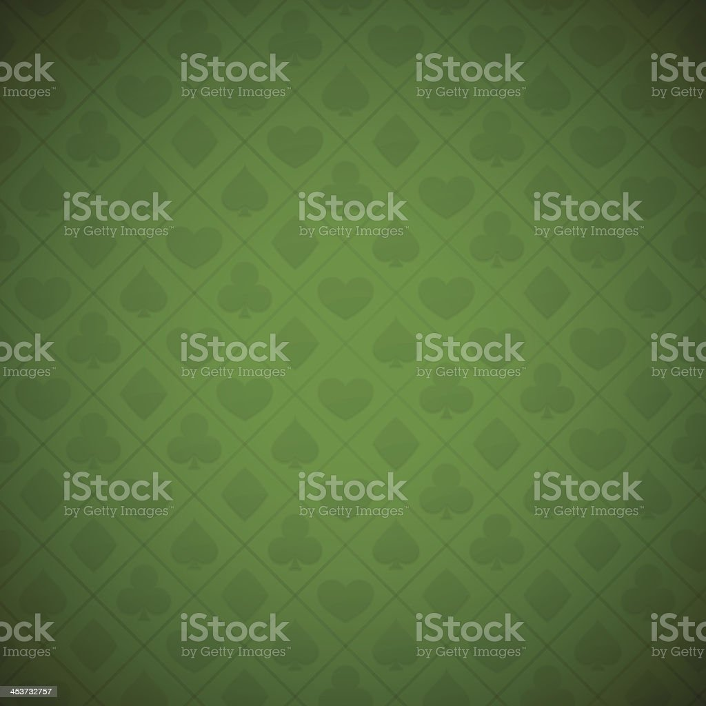 Seamless Gambling Card Suits Background vector art illustration