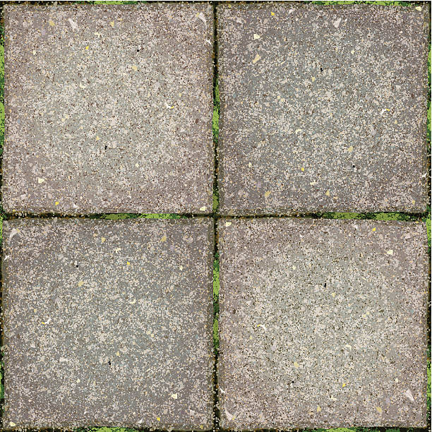 seamless garden tiles background - moss stock illustrations