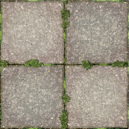 seamless concrete patio floor tiles with moss. No clipping path, ready to use. EPS8 file. 4000×4000 JPG included. EPS10 file. Transparency used for shadows. Layered file, individual objects and textures. http://i161.photobucket.com/albums/t234/lolon5/seamless.jpg