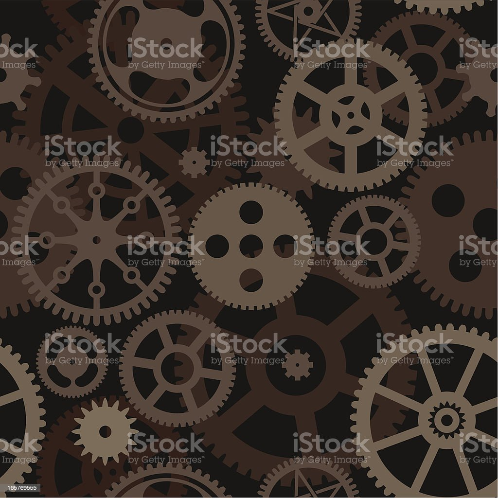 Seamless Gears wallpaper royalty-free stock vector art