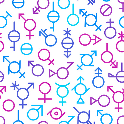 Seamless Gender Symbols Background Pattern