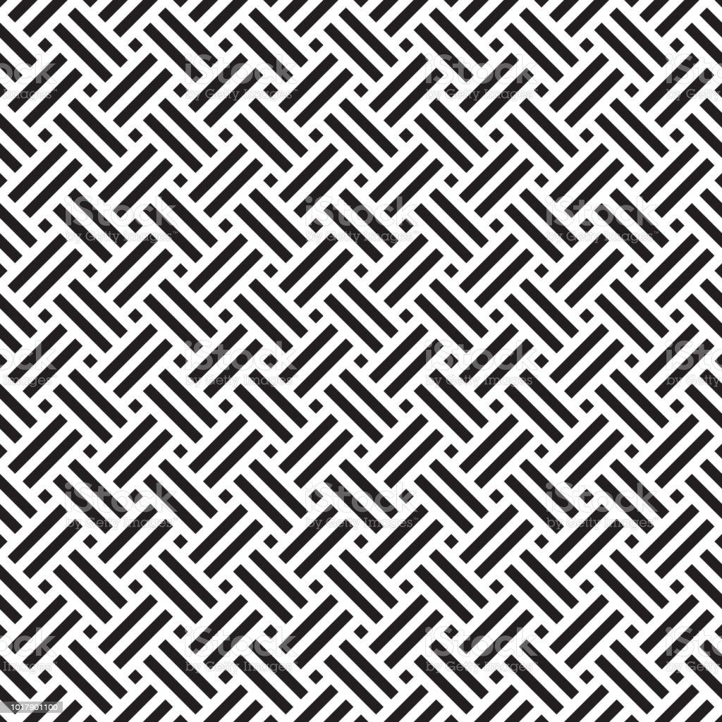 Seamless Geometric Abstract Weave Pattern Background Stock Illustration Download Image Now