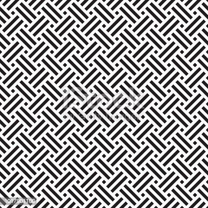 Seamless geometric abstract weave pattern background.