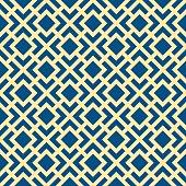 Seamless Geometric Art Deco Lattice Vector Pattern