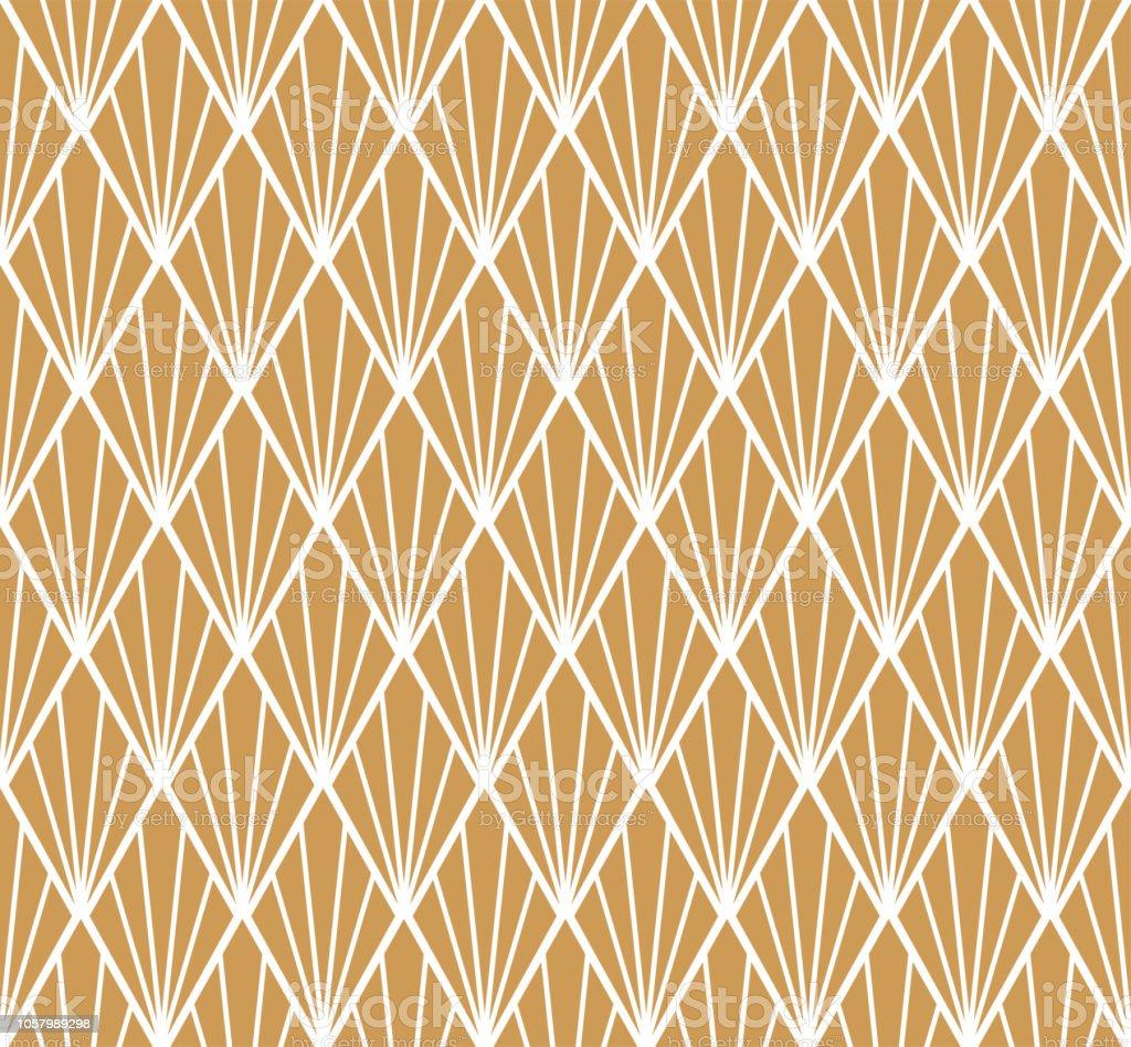 Teste padrão geométrico sem costura Arte Deco. Vetor abstrato floral fundo. - ilustração de arte em vetor