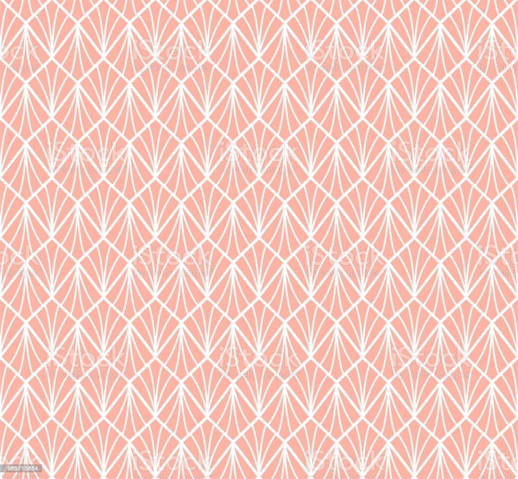 Seamless Geometric Art Deco Pattern. Abstract vector floral background. - Royalty-free Abstract stock vector