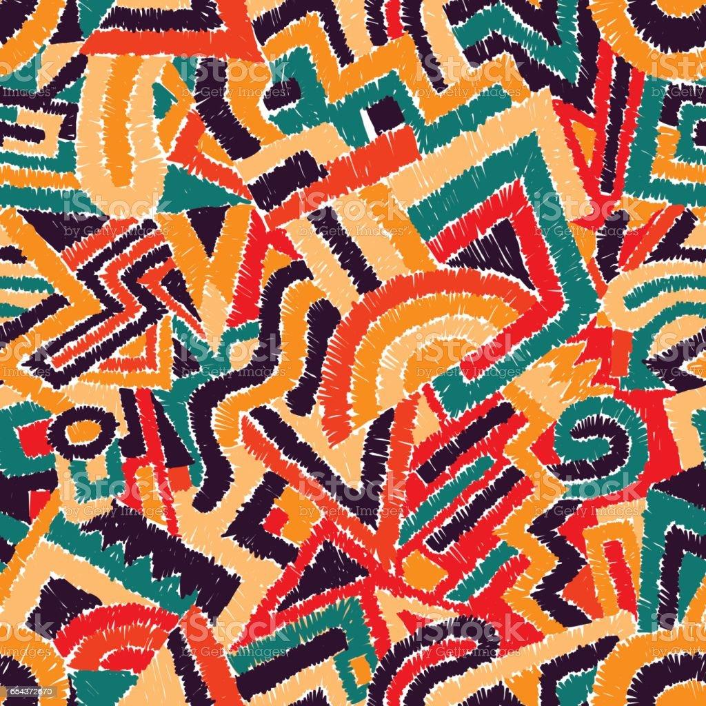 Fondo geométrico perfecta. Motivos étnicos y tribales. - ilustración de arte vectorial