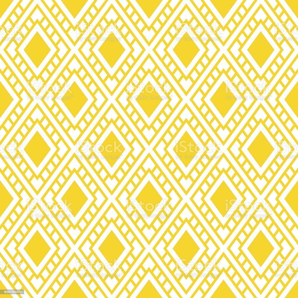 Seamless Geometric Background Pattern Yellow With Diamond ...