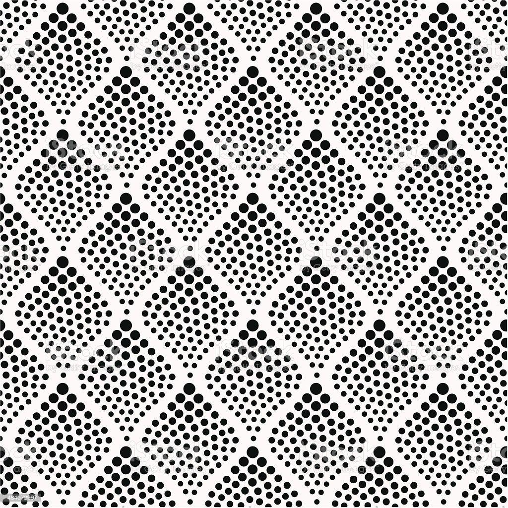 seamless geometric dots pattern vector art illustration