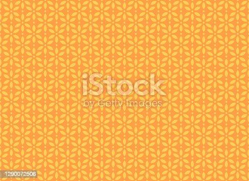 istock Seamless Geometric Floral Pattern 1290072506