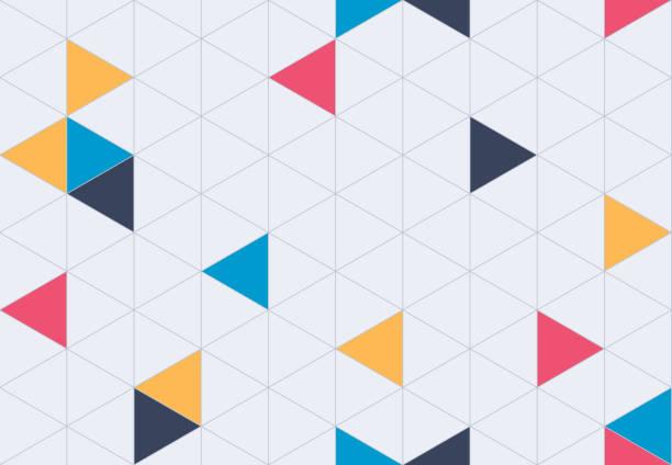stockillustraties, clipart, cartoons en iconen met naadloze geometrische raster patroon achtergrond - driehoek
