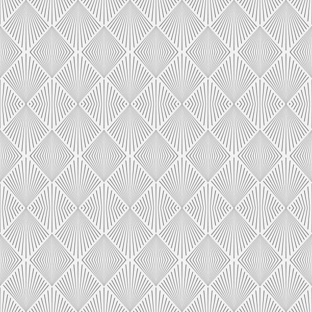 nahtlose geometrische modelle im art-deco-stil. - rankgitter stock-grafiken, -clipart, -cartoons und -symbole