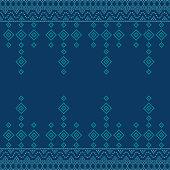 Seamless geometric ornamental pattern background. seamless traditional textile bandhani sari border. creative seamless indiant bandhani textures border design