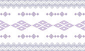 Seamless geometric ornamental pattern background. seamless traditional textile bandhani sari border. creative seamless motif ulos batak