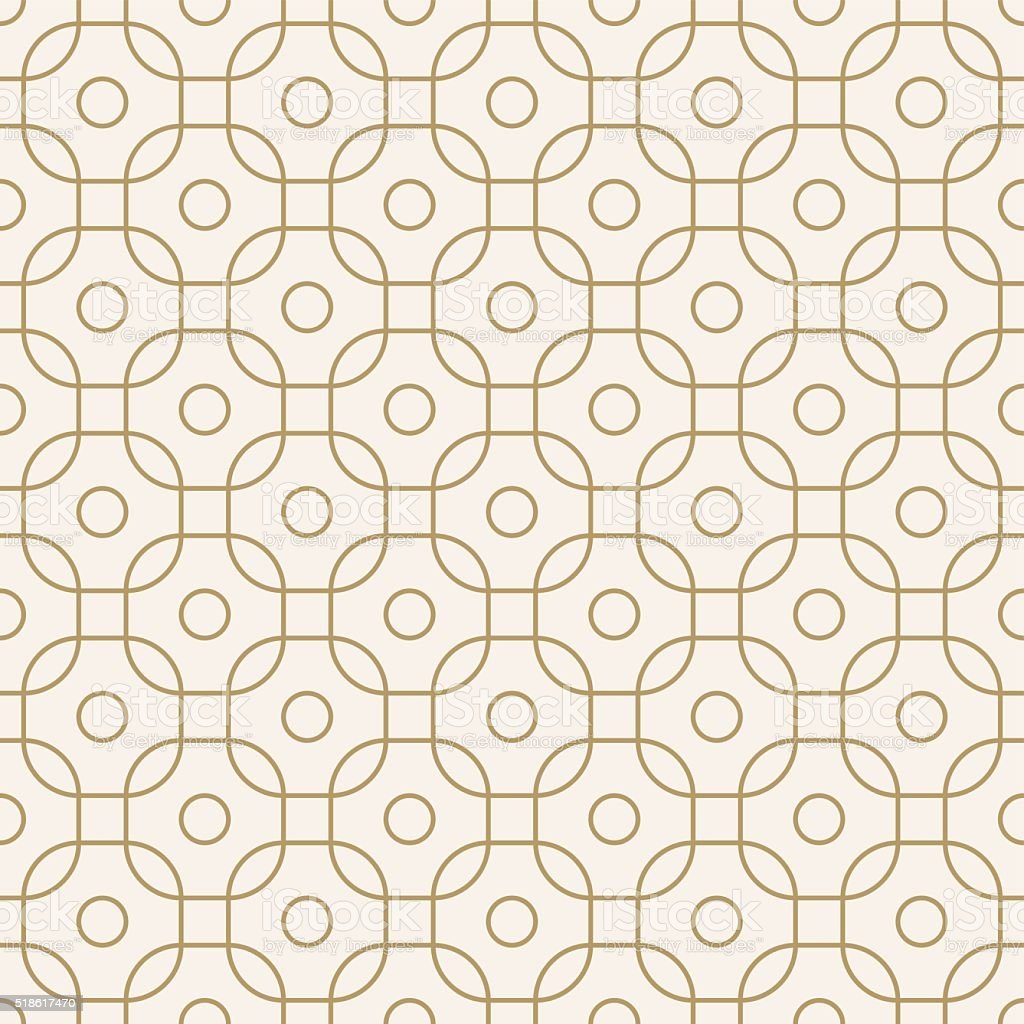 seamless geometric outline pattern vector art illustration