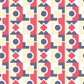 Seamless geometric pattern background in an abstract creative design