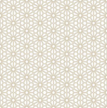 Seamless geometric pattern based on Japanese ornament Kumiko