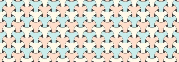 nahtlose geometrische musterbriefe vektoralen muster für pajama aus pajama farbigen slips - pastellhosen stock-grafiken, -clipart, -cartoons und -symbole