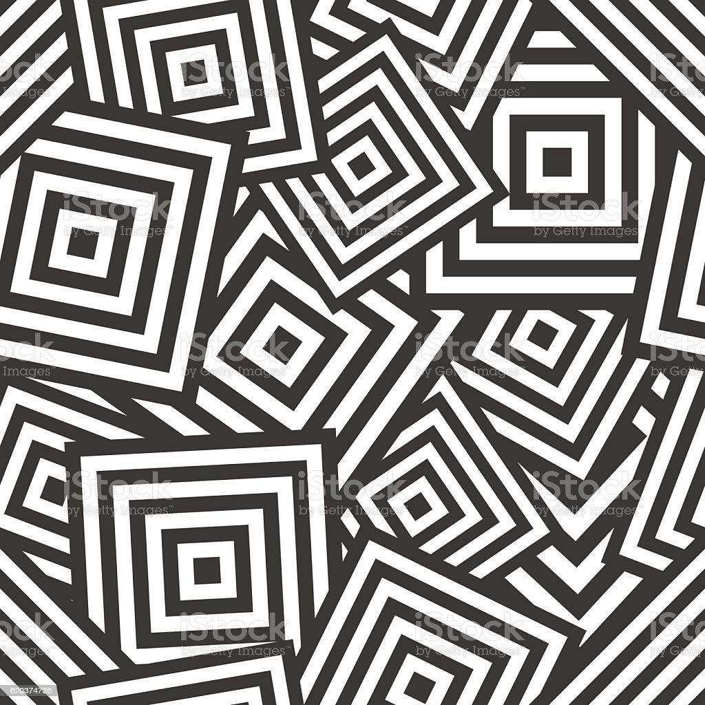 Seamless geometric pattern - chaotic rhombus (squares) seamless geometric pattern chaotic rhombus - arte vetorial de stock e mais imagens de abstrato royalty-free