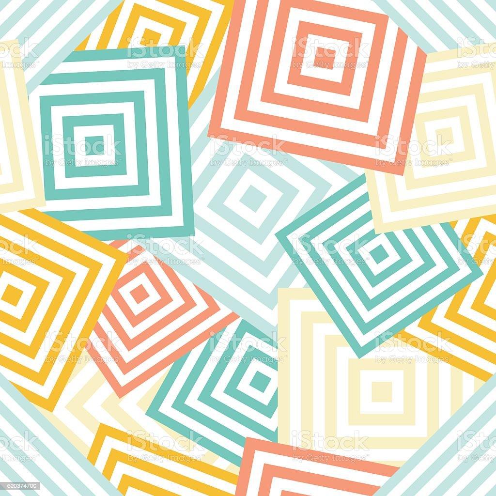 Seamless geometric pattern - chaotic rombus (squares) seamless geometric pattern chaotic rombus - arte vetorial de stock e mais imagens de abstrato royalty-free