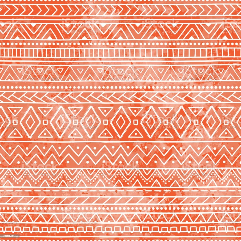 Seamless geometric pattern. Ethnic and tribal motifs. vector art illustration