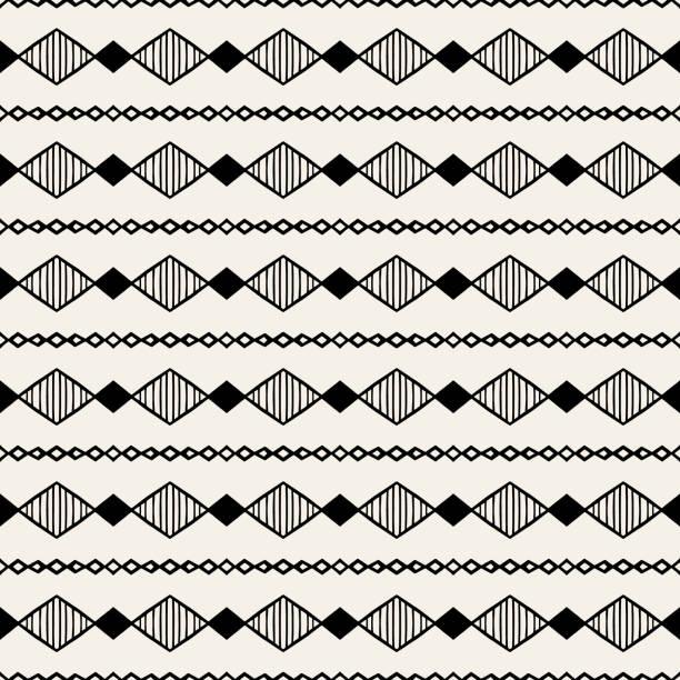 bildbanksillustrationer, clip art samt tecknat material och ikoner med sömlösa geometriska mönster-handritade - south africa