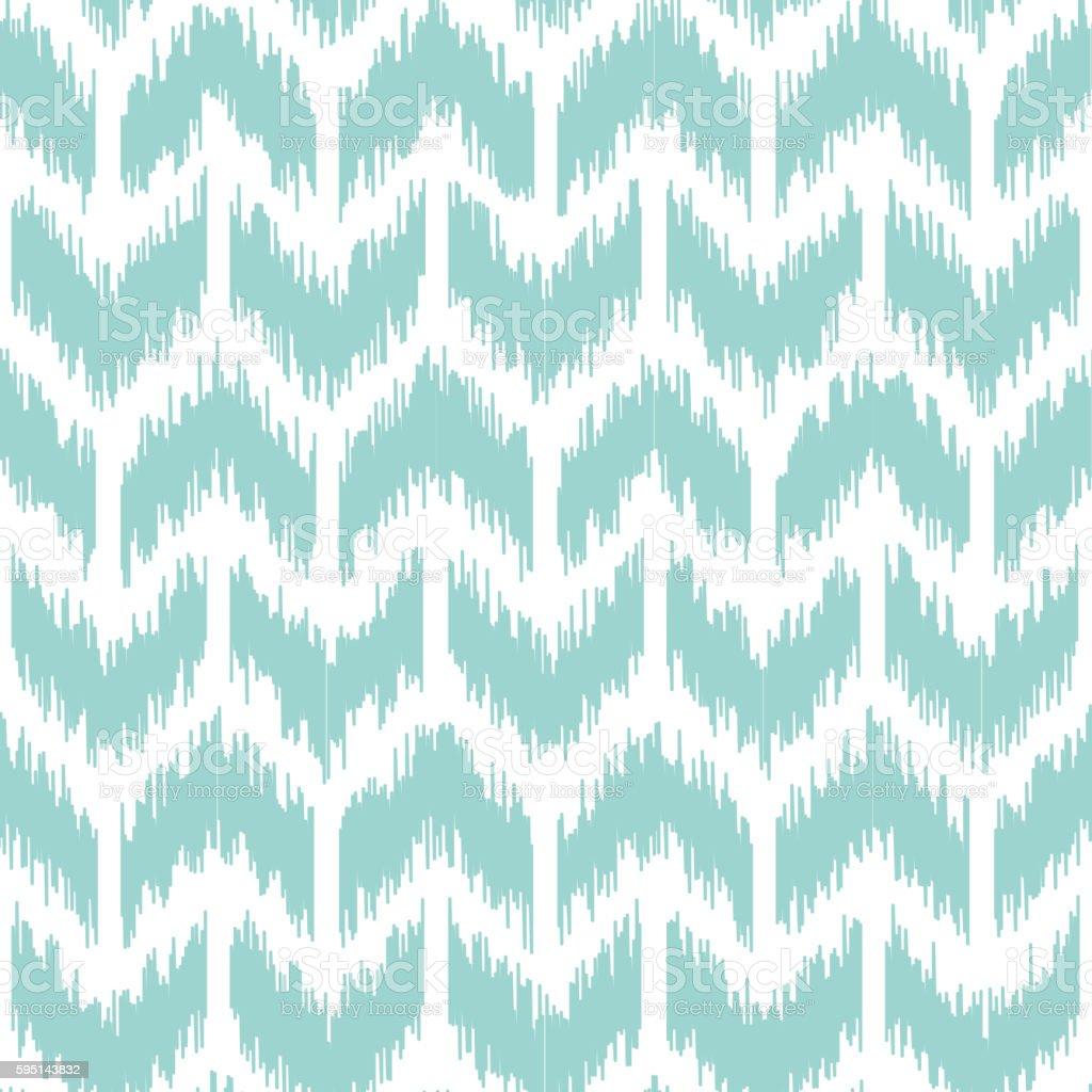 Seamless geometric pattern, ikat fabric style. vector art illustration