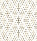 Beautiful geometric pattern, great design for any purpose.Pattern background vector.Fine lines.Golden and white.