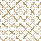 Seamless geometric pattern in golden and white.Japanese style Kumiko.