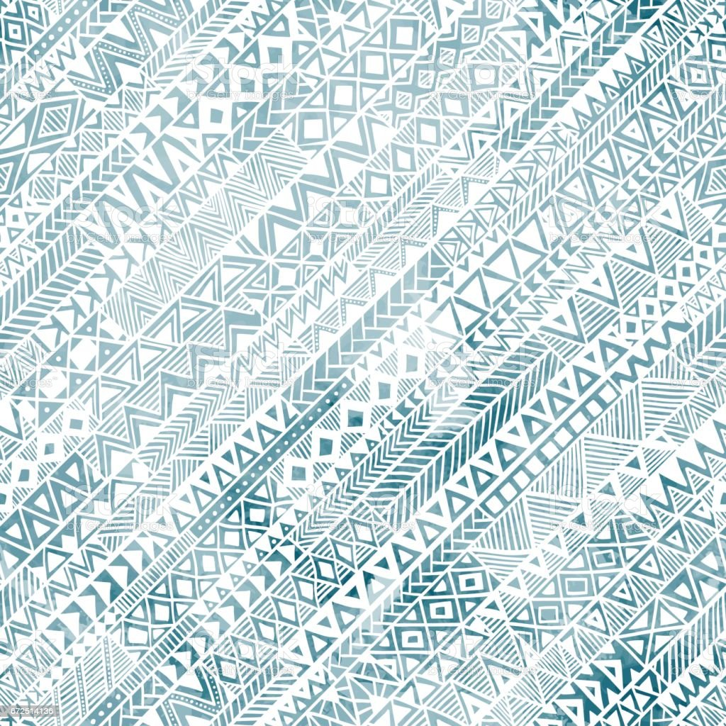 Seamless geometric pattern in grunge style. - Illustration vectorielle