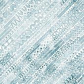 Seamless geometric pattern in grunge style.