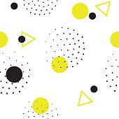 Seamless geometric pattern in retro, 80s style