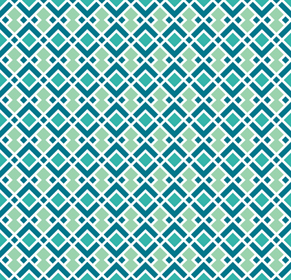 Seamless Geometric Pattern In Teal Turquoise And ...