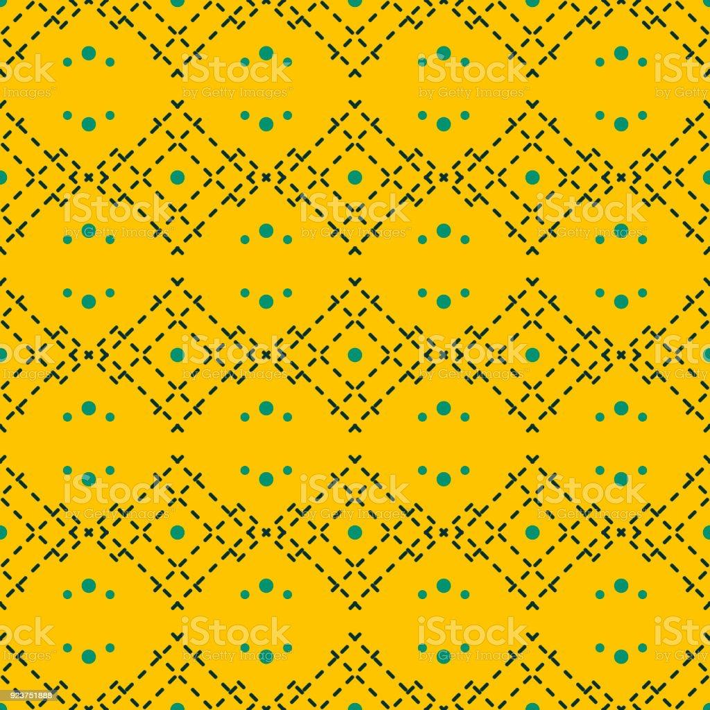 Comment Faire Du Jaune Moutarde motif géométrique sans couture en mode couleur jaune