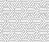 Seamless pattern. Interlacing illusion. Geometric texture. Vector art.