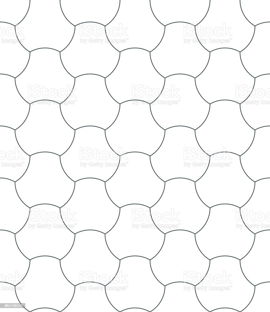 seamless geometric pattern of rounded shapes. royalty-free seamless geometric pattern of rounded shapes stock vector art & more images of abstract