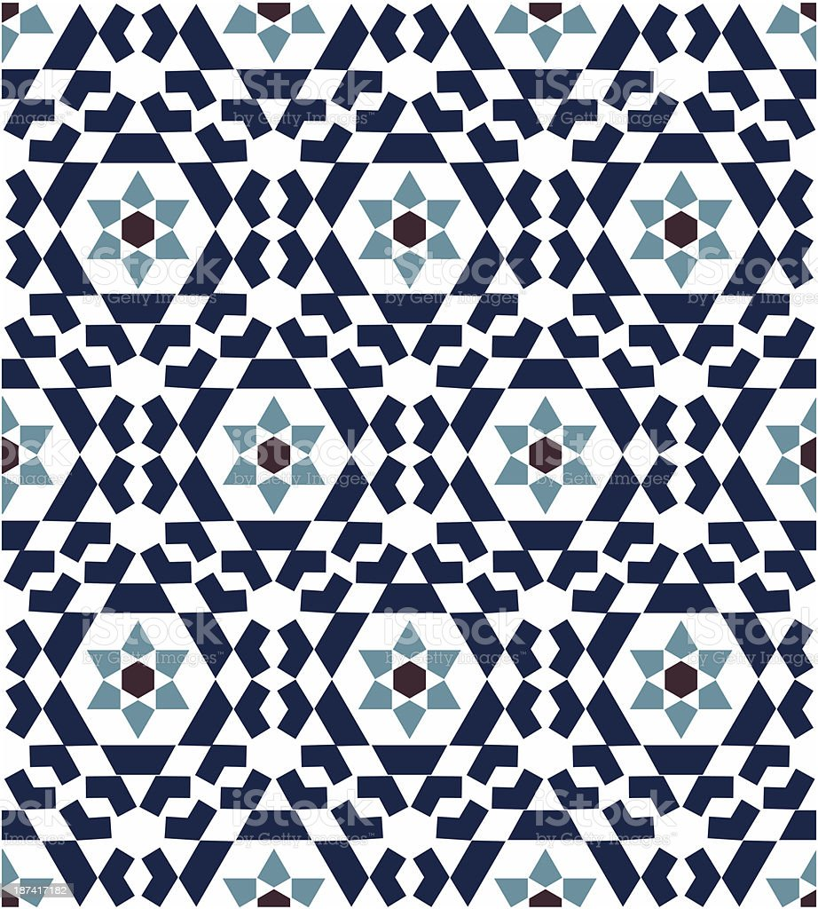 A seamless geometric pattern on white royalty-free stock vector art