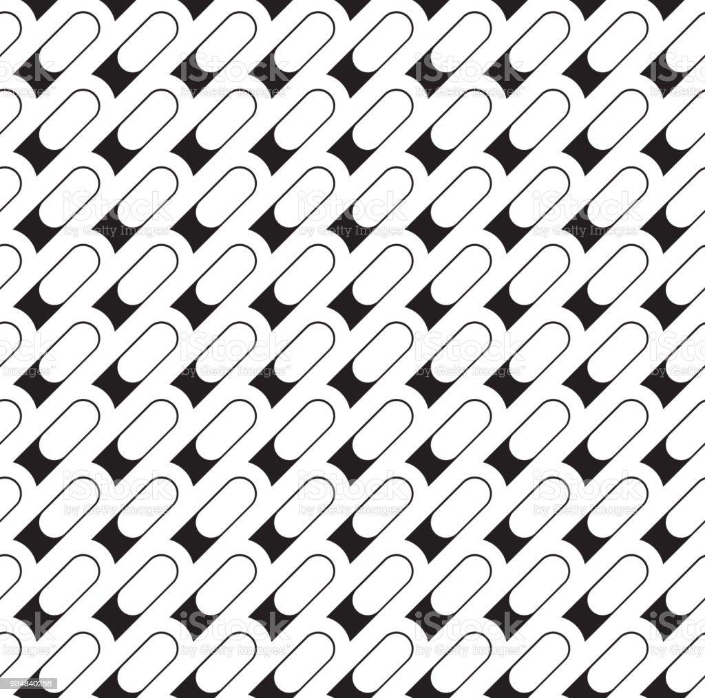 완벽 한 기하학적 패턴입니다. 클래식 반복 벡터 개요 - 로열티 프리 0명 벡터 아트