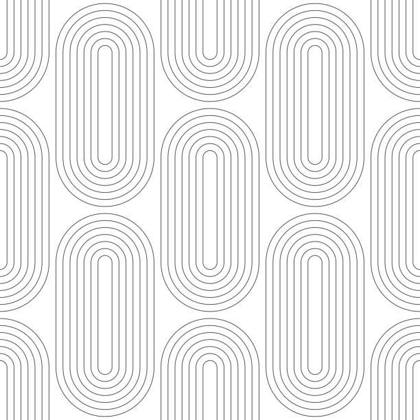 Nahtlose geometrische Muster  – Vektorgrafik