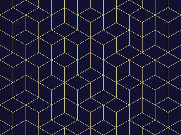 Seamless Geometric Pattern Seamless. Colors easily changed. cube shape stock illustrations