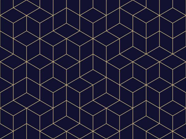 ilustraciones, imágenes clip art, dibujos animados e iconos de stock de sin fisuras patrón geométrico - patrón geométrico