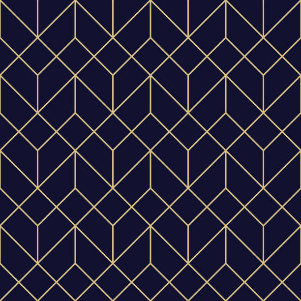 illustrazioni stock, clip art, cartoni animati e icone di tendenza di seamless geometric pattern - rombo