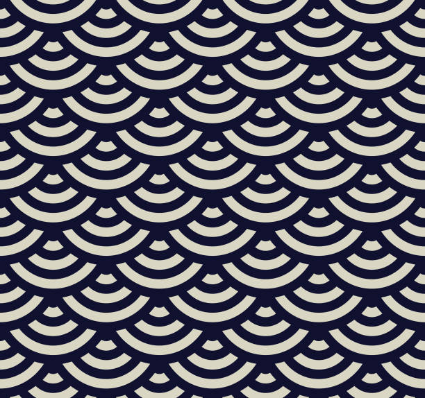 Seamless Geometric Pattern Seamless. Colors easily changed. japanese culture stock illustrations