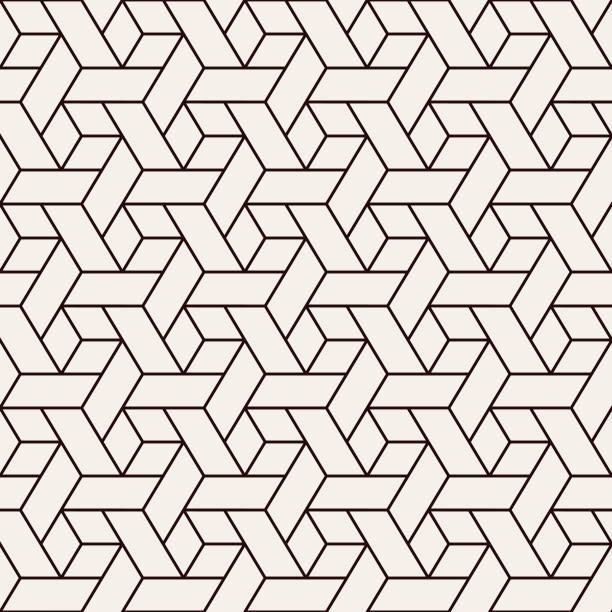 완벽 한 기하학적 패턴 - 엮다 stock illustrations