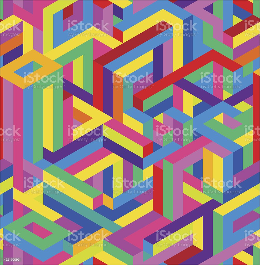 Seamless geometric pattern royalty-free stock vector art